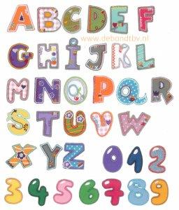 Alfabet en Cijfers Kids Strijkapplicaties