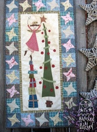 Hatched and Patched Anni Downs Quiltpatroon Chloe's Christmas Tree Kerstboom P0084