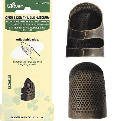 Clover 6018 Open vingerhoed metaal Medium. Verstelbare medium sized