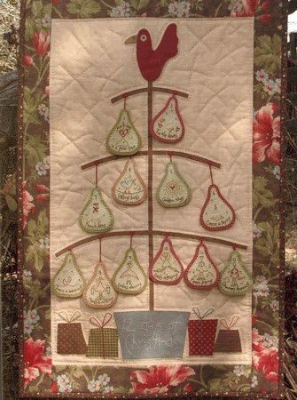 Hatched and Patched Anni Downs Quiltpatroon 12 Days of Christmas Kerstmis P067