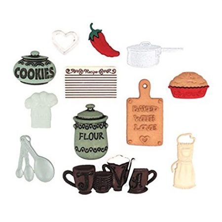 Dress it Up Assortiment quiltknoopjes In the Kitchen In de keuken 0338