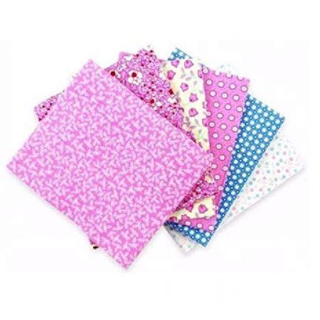 Fat quarter quiltstofpakket Pastel Patchwork Pink. Zes quiltstoflapjes