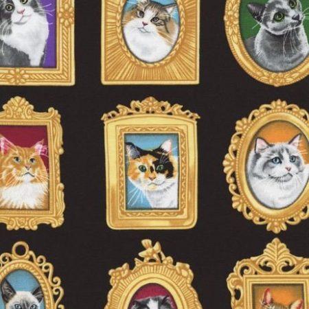 Quiltstof katoen Katten 1770