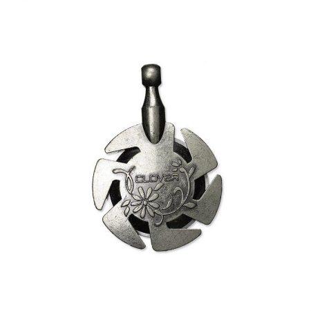 Clover 3106 Breigarensnijder met hanger Antiek Zilver