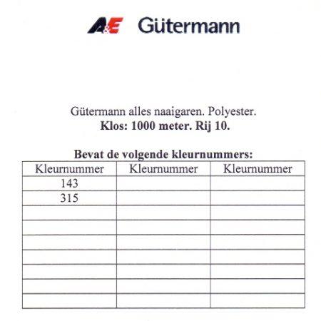 Gütermann naaigaren 1000 meter. Rij 10. Naaigaren van hoge kwaliteit