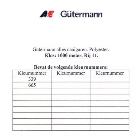 Gütermann naaigaren 1000 meter. Rij 11. Naaigaren van hoge kwaliteit