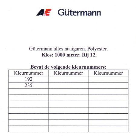 Gütermann naaigaren 1000 meter. Rij 12. Naaigaren van hoge kwaliteit
