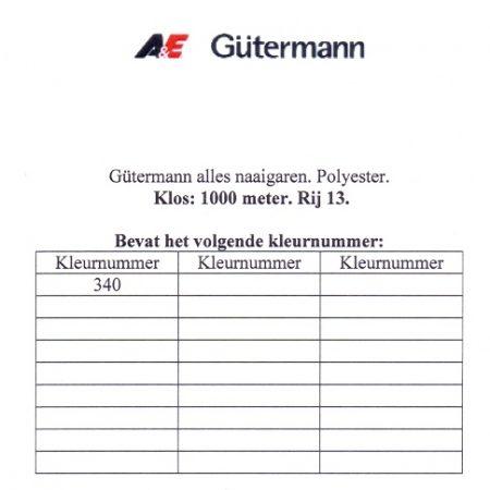 Gütermann naaigaren 1000 meter. Rij 13. Naaigaren van hoge kwaliteit