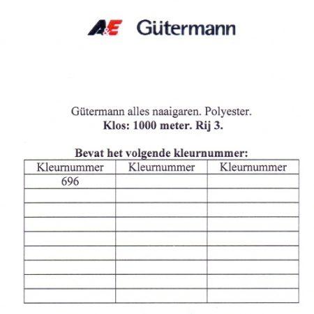 Gütermann naaigaren 1000 meter. Rij 3. Naaigaren van hoge kwaliteit