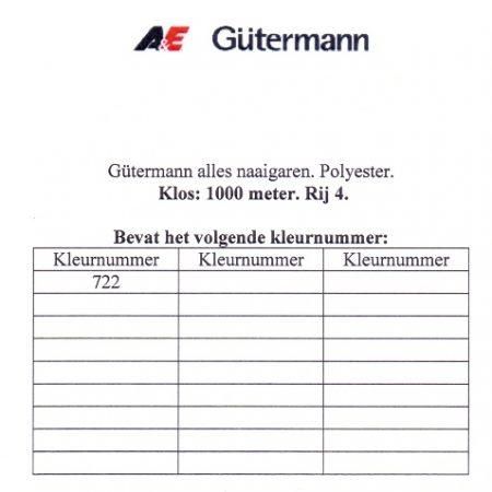 Gütermann naaigaren 1000 meter. Rij 4. Naaigaren van hoge kwaliteit