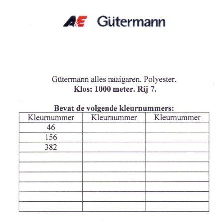 Gütermann naaigaren 1000 meter. Rij 7. Naaigaren van hoge kwaliteit