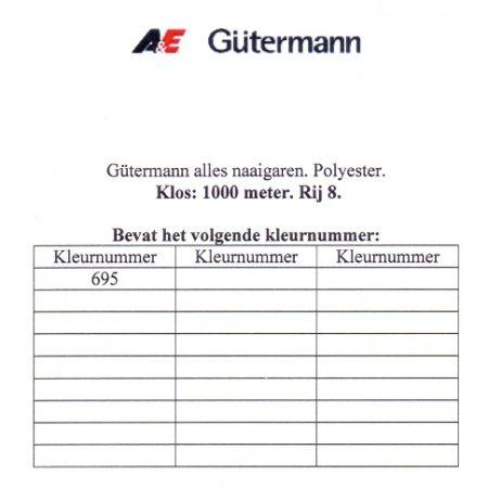 Gütermann naaigaren 1000 meter. Rij 8. Naaigaren van hoge kwaliteit