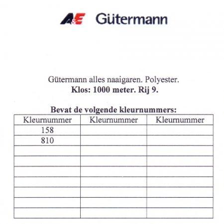 Gütermann naaigaren 1000 meter. Rij 9. Naaigaren van hoge kwaliteit