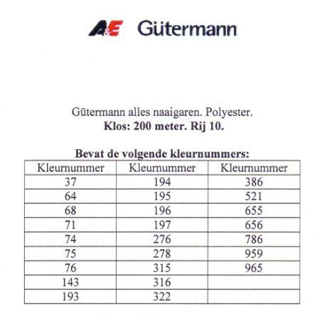 Gütermann naaigaren 200 meter. Rij 10. Naaigaren van hoge kwaliteit
