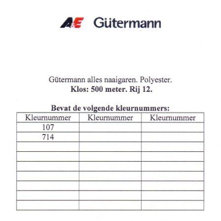 Gütermann naaigaren 500 meter. Rij 12. Naaigaren van hoge kwaliteit