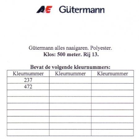 Gütermann naaigaren 500 meter. Rij 13. Naaigaren van hoge kwaliteit