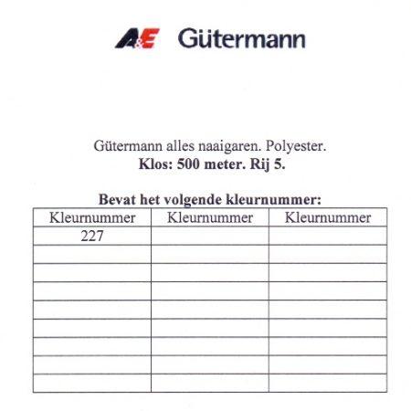 Gütermann naaigaren 500 meter. Rij 5. Naaigaren van hoge kwaliteit