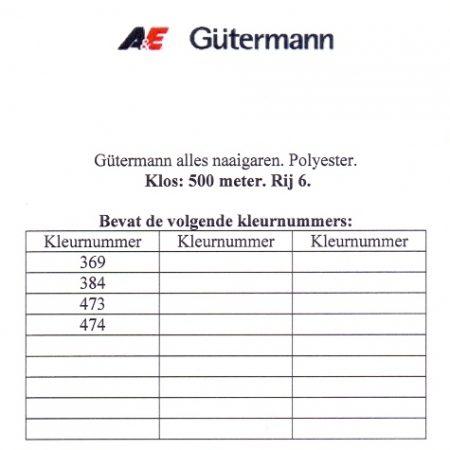 Gütermann naaigaren 500 meter. Rij 6. Naaigaren van hoge kwaliteit