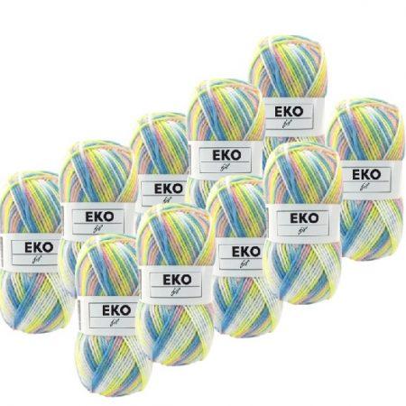 Ekofil Brei- en haakgaren 100% polyacryl 301. Gemeleerd van 100 % acryl