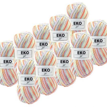 Ekofil Brei- en haakgaren 100% polyacryl 302. Gemeleerd haakgaren