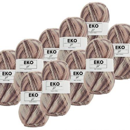 Ekofil Brei- en haakgaren 100% polyacryl 304. Gemeleerd haakgaren