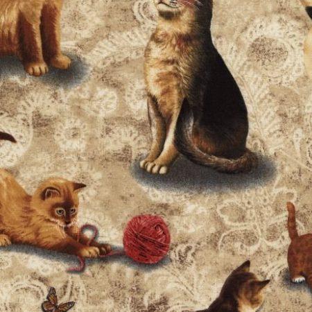 Quiltstof katoen Katten 2293