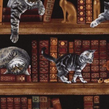 Quiltstof katoen Katten 2863. Merk: Timeless Treasures