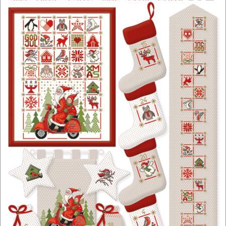 Borduurpatroon van Lindner. Onderwerp: Weihnachtzeit. Kersttijd 059
