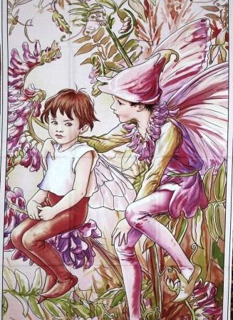 Quiltpanel Magical Fairies. Uit de Flower Fairies serie
