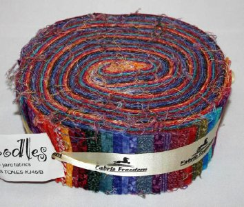 Quiltstoffen Jelly Rolls en strippers