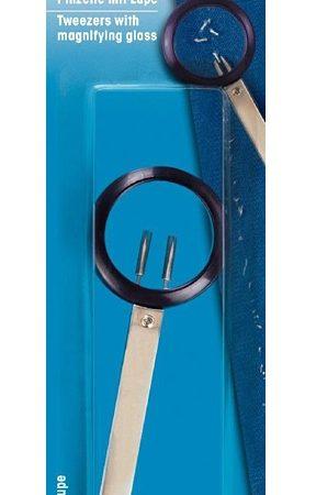 Prym 610355 Pincet met loep. Ergonomisch ontworpen pincet met loep