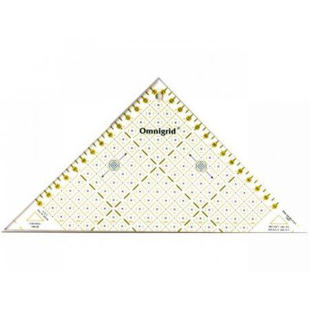 Omnigrid liniaal. Merk: Prym. Driehoek. Afmeting: 15 centimeter