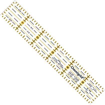Omnigrid liniaal. Merk: Prym. Afmetingen: 1 x 6 inch