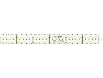 Omnigrid liniaal. Merk: Prym. Afmetingen: 3 x 30 centimeter