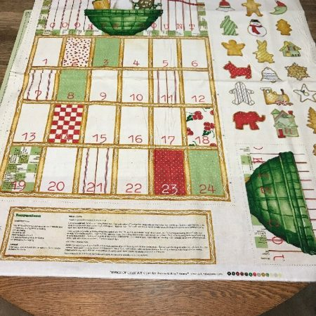 Quiltpanel Adventskalender. Christmas Cookie Count