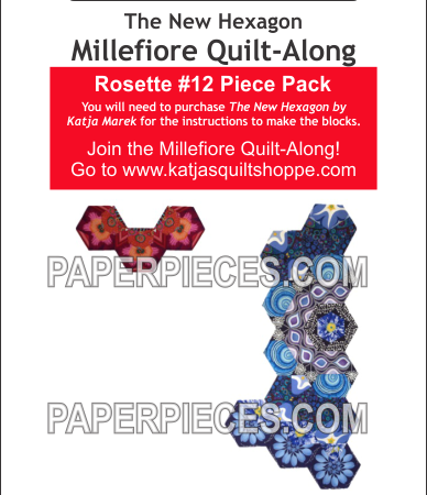 Katka Marek Rosette 12 Paper piece pack Millefiore Quilt-Along