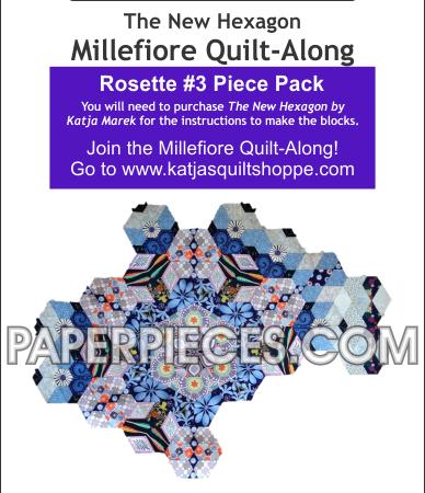 Katja Marek Rosette 3 Paper piece pack Millefiore Quilt-Along