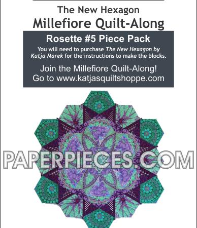 Katja Marek Rosette 5 Paper piece pack Millefiore Quilt-Along