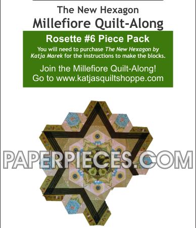 Katja Marek Rosette 6 Paper piece pack Millefiore Quilt-Along