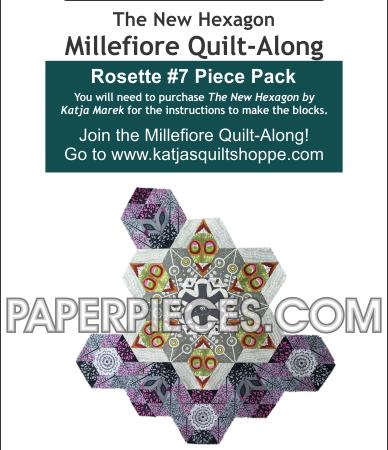 Katja Marek Rosette 7 Paper piece pack Millefiore Quilt-Along