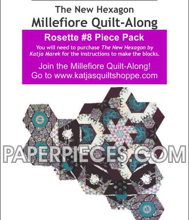 Katja Marek Rosette 8 Paper piece pack Millefiore Quilt-Along