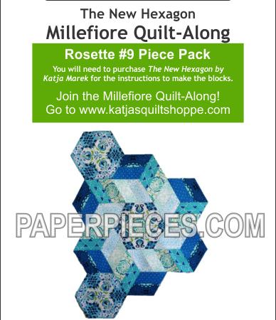 Katja Marek Rosette 9 Paper piece pack Millefiore Quilt-Along