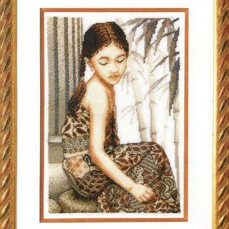 Royal Paris Borduurpakket Aida Indiaas Meisje. Merk: Royal Paris