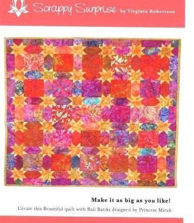 Batik Expressions Quiltpatroon Scrappy Surprise. Mooie, spannende quilt