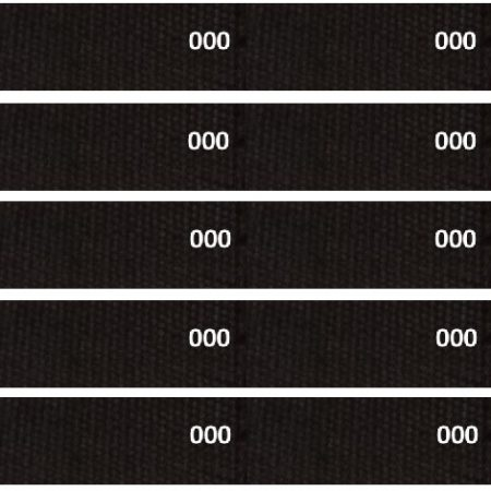Tassenband of Keperband Zwart. Extra stevig tassenband