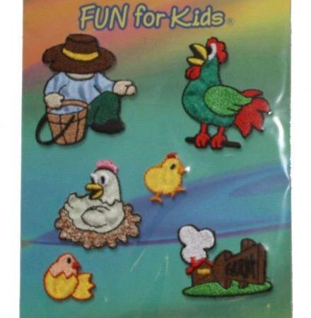 Geborduurde strijkapplicatie fun for kids