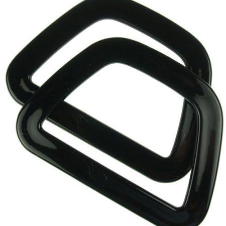 Clover 6330 Tas handvat D-vormig kunststof glad zwart