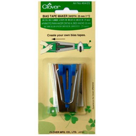 Clover 464/25 Biaisbandmaker 25 mmr. Kleur: Blauw