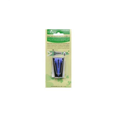 Clover Biaisbandmaker. Kleur: Blauw Voor het maken van 25 mm biaisband