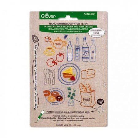 Clover 8821 Handborduren strijkpatroon keuken